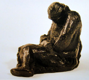 "Ben MACALA ""The Night Watchman"", undated – bronze - 26x32x21 cm (Coll. SA Reserve Bank, Cape Town)"