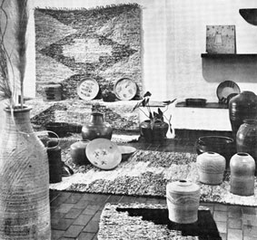 Esias Bosch stoneware on exhibition at Gallery 101 Johannesburg early 1972