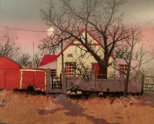 "David OWN 1939-1981 ""Transvaal Winter"", 1980 - hand screen print - A/Proof - 33x40 cm - Priv. Coll., Canada"