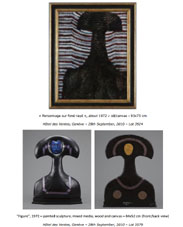 Cyril FRADAN 1972 - a painting and sculpture auctioned by Hotel des Ventes, Geneva 28th Sept. 2010