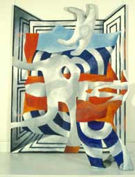 "Cyril FRADAN ""Billow"", 1973 - acrylic/canvas 183x228cm + freestanding form 124cm H (Coll. SANG)"