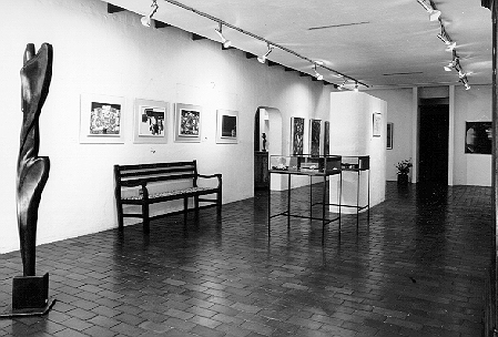 Walter Battiss paintings on view in one of the Gallery 21 rooms, Hyde Park Corner, Johannesburg, in 1973
