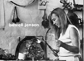 Berrell JENSEN 1967 - cover of invitation card Gallery 101 Nov 1967