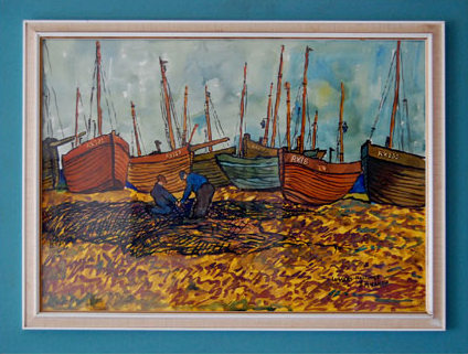"John McLAREN ""Luggers, Hastings"" - signed: J McLaren"