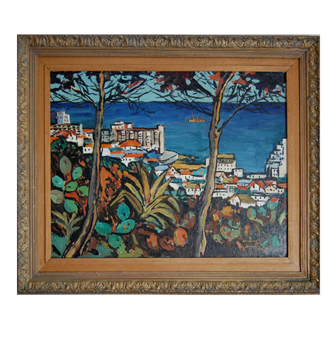 "John McLaren ""Sea Point Bay"" undated - acryl - signed: J. McLaren"