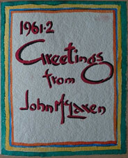 John McLaren 1962 one of 3 greeting cards illustrated with his watercolours