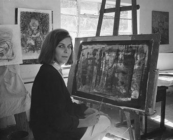 Karin Jaroszynska in her studio in Johannesburg in abt. 1965 (img E.H. Bellairs)