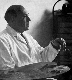 Prof. Otto KLAR (1908-1994) in his studio around 1963