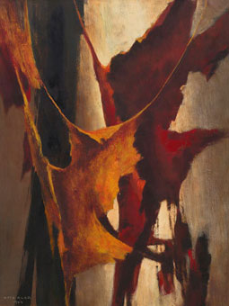 "Otto KLAR ""Tree bark"", 1964 - oil/board - 60x44.5 cm- Lot 479"