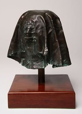 "Eddie Ladan ""The masked head"", bronze 2/5 - 24cm H - auctioned Welz Cape Town - 26th May, 2009 - Lot 345"