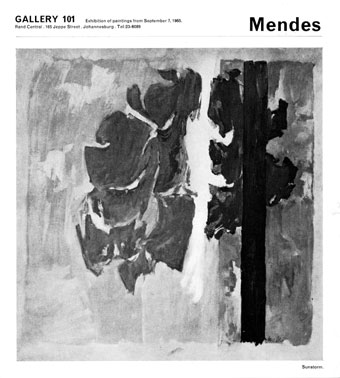 Ross MENDES 1965 Gallery 101, Johannesburg - part of catalogue