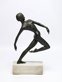 "Hennie POTGIETER ""Nude dancer"", 1969 - bronze - ed. 2/6 - 36cm H excluding marble plinth - auctioned Bernardi Auctioneers, Pretoria - 3rd June, 2013 - Lot 450"
