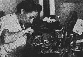 Margaret Richardson in her workshop in 1958 (img. The Diamond News and S.A. Jeweller, September 1958