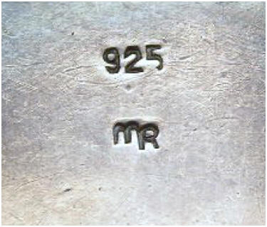 Margaret Richardson silver stamp and signet
