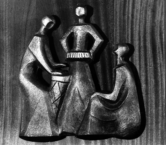 "Lily SACHS ""African Concert"" bronze on wood - Private Coll."