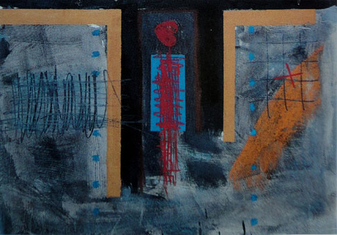 "Lucas SEAGE ""Love for Abstract"" (diptych) m/media on paper 72x100 cm (Welz Johannesburg 12th May 2003 Lot 557)"