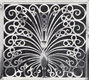Detail of aluminium grille work designed by René Shapshak for Broadcast House, Johannesburg, ill. in The SA Architectural Record, October, 1937 (archives http://www.artefacts.co.za/)