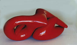 "Patrick Owen WILSON ""Figure at rest"" sculpture in polyester resin exhibited at AGNSW (finalist in Wynne Art Prize Competition, 1999)"