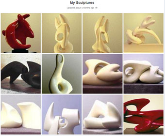 Screenprint of selected © sculptures on Facebook from different periods by Patrick Owen Wilson