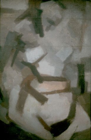 "Claude VAN LINGEN ""Nude, Paris"", 1961 - oil/canvas - 30x20 cm"
